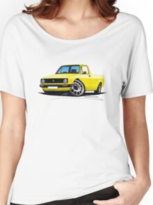 VW Caddy Yellow Women's Relaxed Fit T-Shirt
