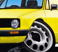 VW Caddy Yellow Sticker