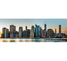 New York City skyline panorama Photographic Print