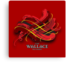 Wallace Tartan Twist Canvas Print