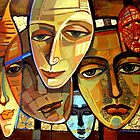Sad masks by lidiasimeonova
