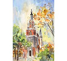 A Church In Our Street In Budapest Photographic Print