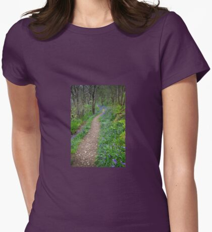 Along the Bluebell Path Womens Fitted T-Shirt