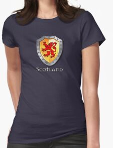 Scotland Lion Rampant Shield Womens Fitted T-Shirt