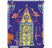Hanukkah mosaic from ancient synagogue in Israel iPad Case/Skin