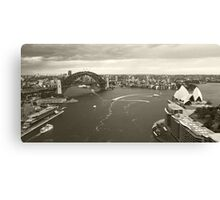 Sydney icons aerial Canvas Print