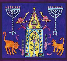 Hanukkah mosaic from ancient synagogue in Israel by UncleShlomo