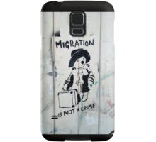 Migration Is Not A Crime Samsung Galaxy Case/Skin