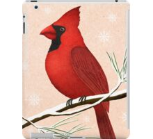 american red cardinal winter version :) iPad Case/Skin