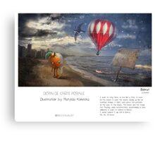 """Beirut"" in words & image (M.Konecka) Canvas Print"