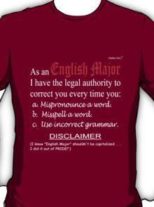English Major (dark background) T-Shirt