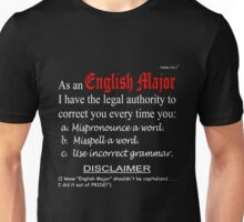 English Major (dark background) Unisex T-Shirt