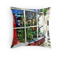 Chistmas Windows Throw Pillow