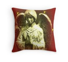 Be Blessed This Christmas Angel Throw Pillow