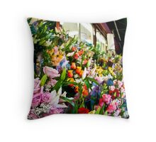 East Village Floral Throw Pillow
