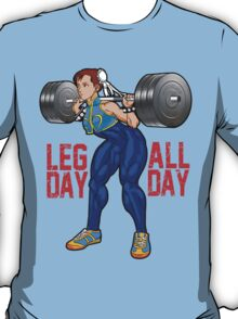 Chun Li - Leg Day All Day T-Shirt