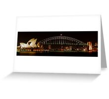 Harbour and Opera House Close Panorama  Greeting Card