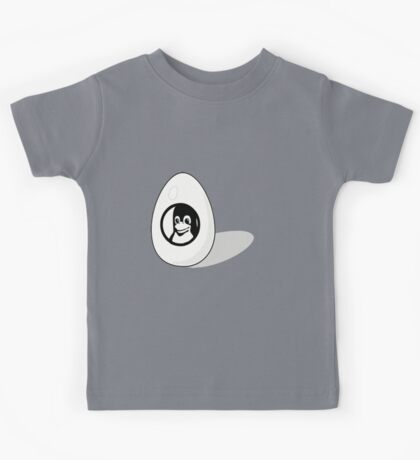 LINUX TUX EGG BRAND  Kids Tee
