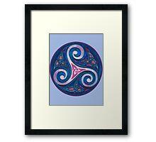 Blue Triskell Framed Print