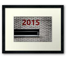 2015 brick work Framed Print