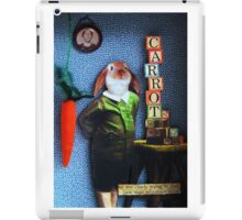 RABBIT carrots assemblage mixed media collage shadow box art iPad Case/Skin