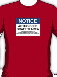 AUTHORISED GRAFFITI AREA T-Shirt