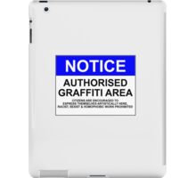 AUTHORISED GRAFFITI AREA iPad Case/Skin