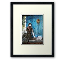 Hello Cat Framed Print
