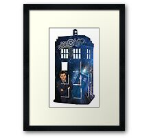 10th & The Tardis Framed Print