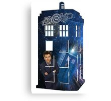 10th & The Tardis Canvas Print