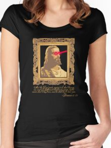 My Saviour has Laser Eyes Women's Fitted Scoop T-Shirt