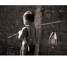 The Young Bird Catcher Photographic Print