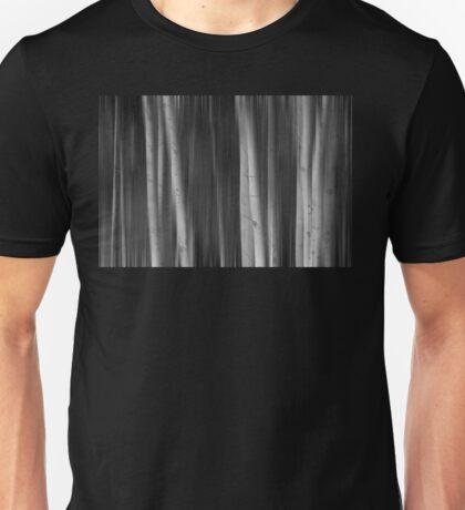 Autumn Aspen Trees Dreaming BW Unisex T-Shirt