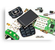 disassembled phone  Canvas Print