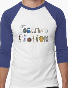 Science Fiction Typography Men's Baseball ¾ T-Shirt