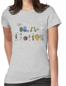 Science Fiction Typography Womens Fitted T-Shirt