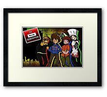 The Worst Generation Channel Cover image gear Framed Print