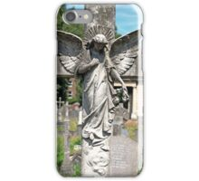 Angel with bowed head Brompton Cemetery iPhone Case/Skin