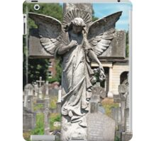Angel with bowed head Brompton Cemetery iPad Case/Skin