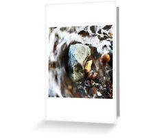 Water & Rocks Greeting Card