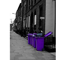 Purple bins Photographic Print