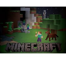 Minecraft - Dangers in the night Photographic Print