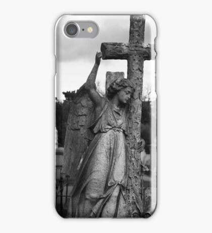 Angel with cross Brompton Cemetery iPhone Case/Skin