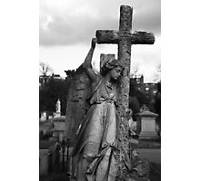 Angel with cross Brompton Cemetery Photographic Print