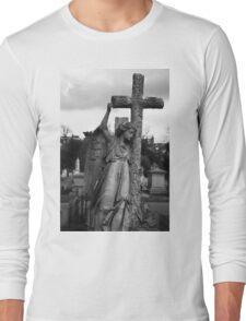 Angel with cross Brompton Cemetery Long Sleeve T-Shirt