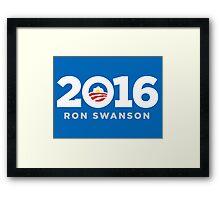 Ron Swanson 2016 shirt hoodie pillow mug iPhone 6 iPad case Framed Print
