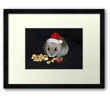 Oreo Ready for Santa Framed Print