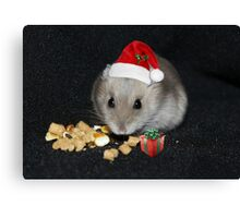Oreo Ready for Santa Canvas Print