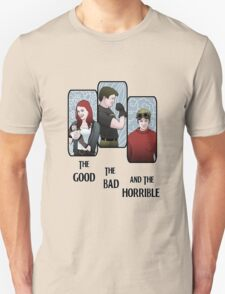 The Good, The Bad, and the Horrible Unisex T-Shirt