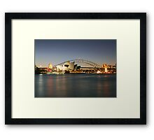 Sydney Icons - Opera House and Harbour Bridge Framed Print